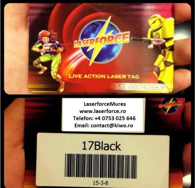 card membru laser
